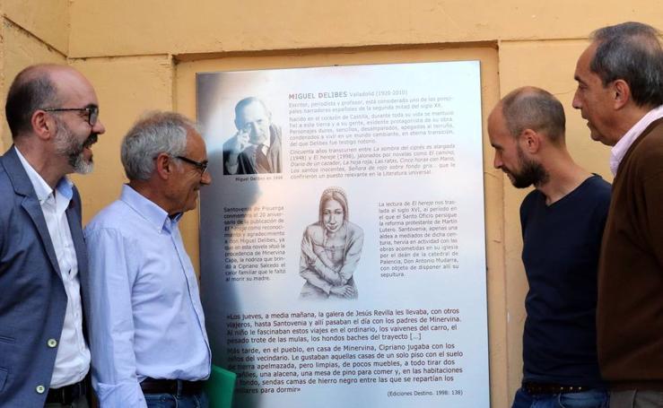 Homenaje a Miguel Delibes en Santovenia