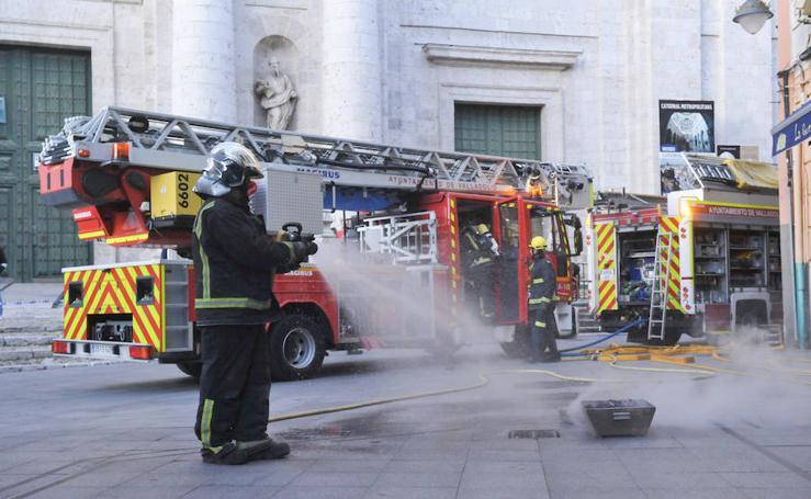 Tarde de incendios en Valladolid