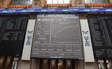 El Ibex-35 remonta a máximos desde febrero: recupera los 10.000 puntos