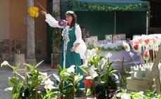 Ampudia se llena de colores gracias al Mercado de la Flor