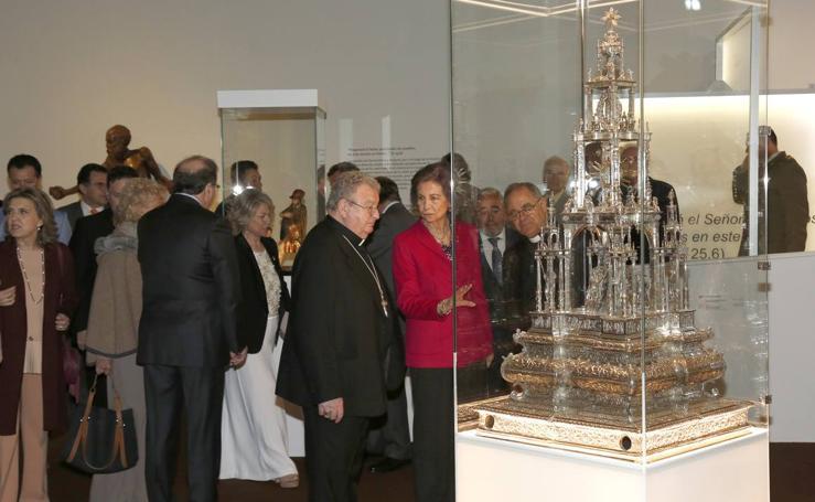 La reina Sofía inaugura Las Edades del Hombre de Aguilar de Campoo