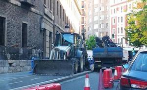 Calles cortadas por obras en Valladolid