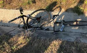 Una furgoneta arrolla a un ciclista en Segovia y se da a la fuga