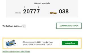 La ONCE reparte 140.000 euros en Mojados