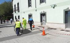El Ayuntamiento cierra con placas de chapa el Marqués de la Ensenada para frenar el expolio