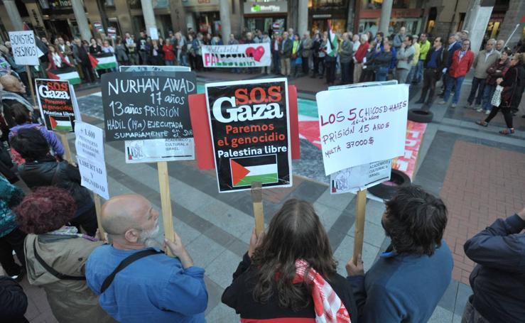 Concentración en Valladolid en solidaridad con el pueblo palestino