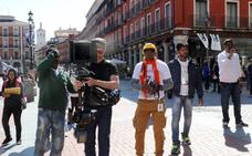 La productora india Divya Film rueda en la Plaza Mayor de Valladolid
