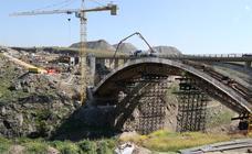 Estado actual de las obras del viaducto de la SG-20