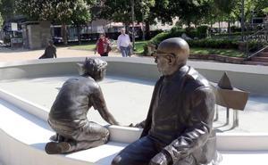 La Plaza de Poniente recupera la fuente de Jorge Guillén y el espacio central del jardín