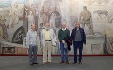 Palencia intenta salvar un mural de Germán Calvo