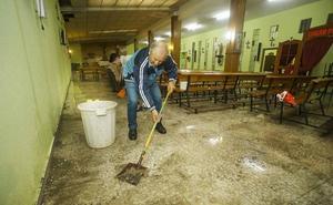 Ciudad Rodrigo recupera la calma tras una tromba de agua y granizo