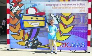 Un alumno del colegio de Grijota gana el campeonato nacional de ábaco