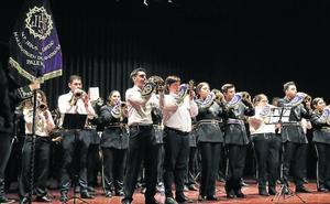 La agrupación musical de la cofradía de Jesús Nazareno celebra 40 años