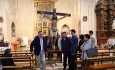 Procesión del Cristo de las Aguas en Palacios de Campos