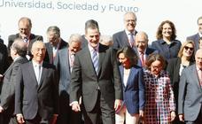 Felipe VI inaugura el Encuentro Internacional de Rectores Universia en Salamanca