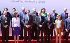 Rajoy clausura el Encuentro de Rectores Universia en Salamanca