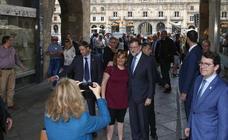 Mariano Rajoy, de paseo por el casco histórico de Salamanca