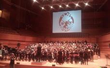Los coros escolares de Castilla y León, actúan en el Miguel Delibes