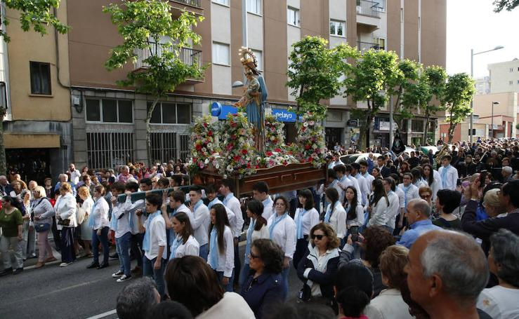 Procesión de María Auxiliadora en Salamanca