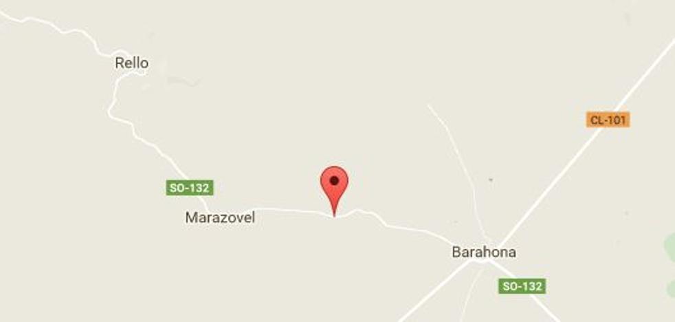 Fallece el conductor de una hormigonera al volcar el vehículo y quedar atrapado en la comarca de Almazán (Soria)