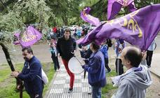 Aficionados de Chocolates Trapa Palencia apoyan a los jugadores