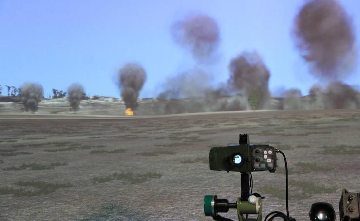 La Academia de Artillería muestra sus simuladores