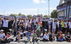 Los aficionados del Salmantino siguieron el partido en el Helmántico