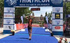 El salmantino Alberto Bravo, 12º en el Nacional de Triatlón de media distancia