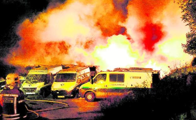 El detenido por quemar 35 ambulancias de Ambuibérica en Vizcaya se quejaba de que sus cabras «no podían pastar»