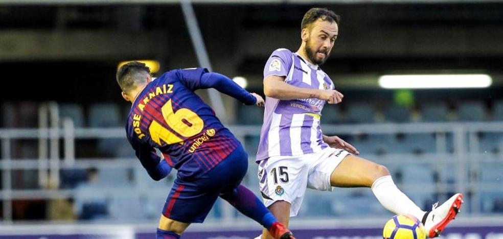 El Valladolid cumple el objetivo en Barcelona: gol y portería a cero