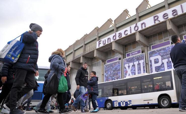 Ambiente en el estadio José Zorrilla por el partido contra la Cultural Leonesa