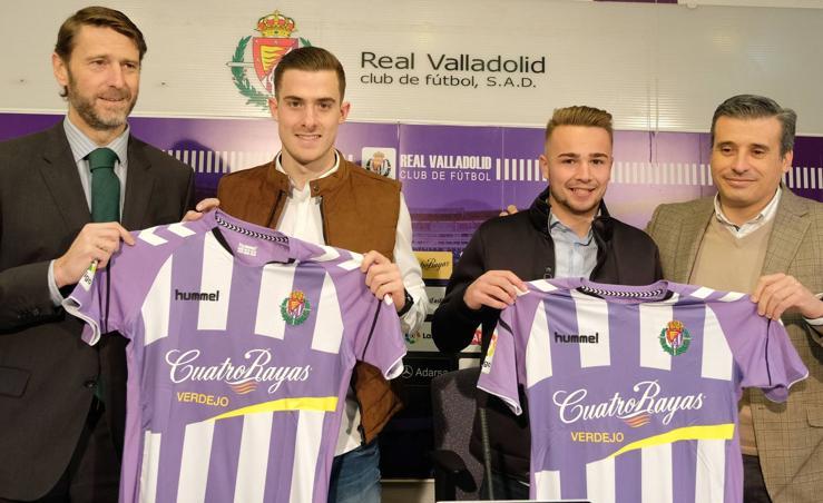 El Real Valladolid presenta a Toni Martínez y Javi Ontiveros
