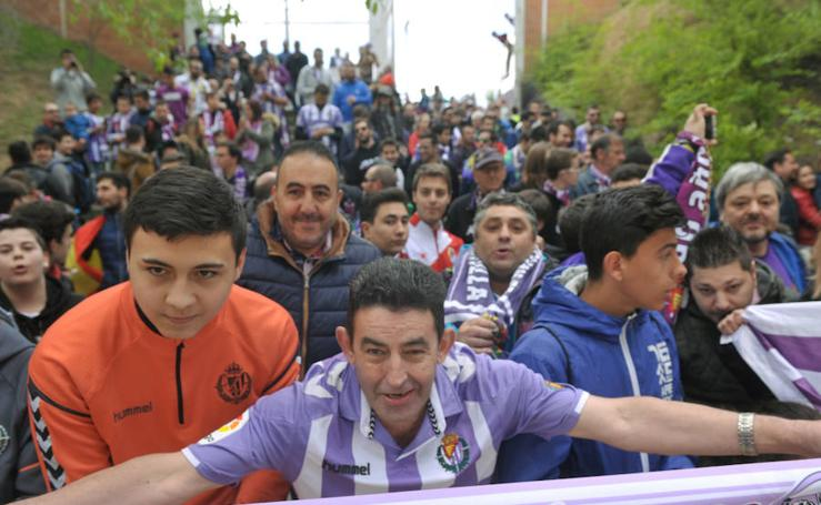 Recepción de los jugadores del Real Valladolid en el José Zorrilla