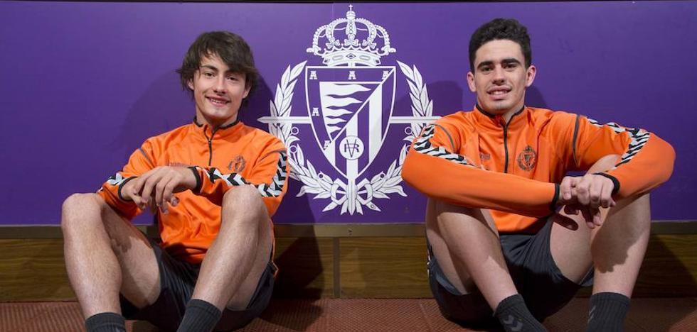 Apa y Miguel, representantes del éxito de la cantera del Real Valladolid