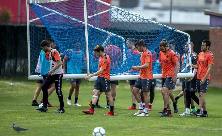 Entrenamiento del Real Valladolid en los Anexos