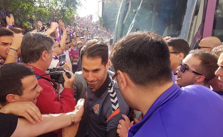 Llegada del Real Valladolid a Zorrilla