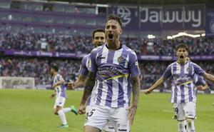 «Alcancé el nivel que quiero dar» afirma Calero, cuyo gol abrió el marcador frente al Sporting