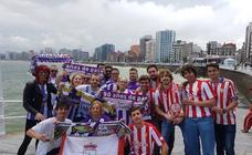 Aficionados del Real Valladolid en Gijón