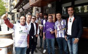 Los aficionados del Real Valladolid, encantados de repetir viaje a Soria