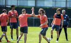 Entrenamiento matutino del Real Valladolid en los Anexos
