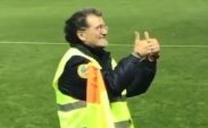 El parecido con Rajoy de un empleado de seguridad del partido Numancia-Real Valladolid se hace viral