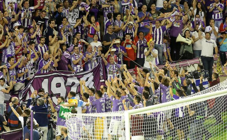 El Estadio Zorrilla celebra el ascenso del Pucela