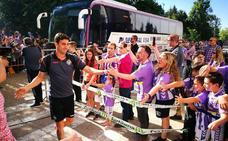 Así ha sido la llegada de los héroes del Real Valladolid