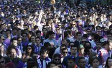 Los vallisoletanos acompañan al Real Valladolid en la celebración