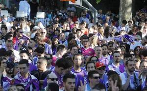 Los vallisoletanos acompañan al equipo en la celebración