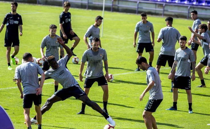 Primer entrenamiento del Real Valladolid tras el parón veraniego