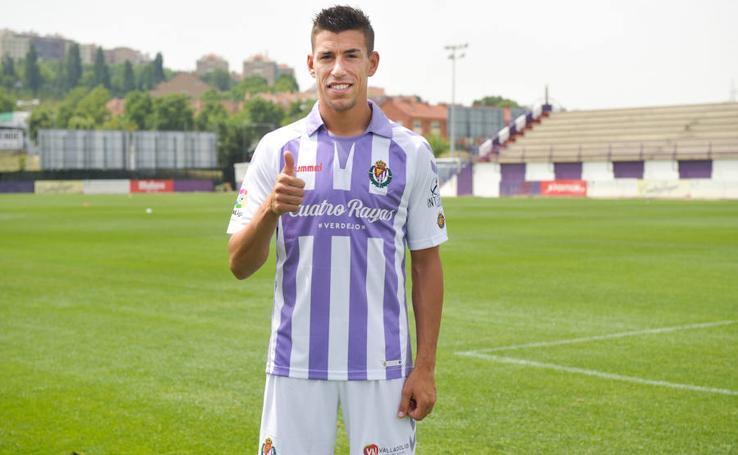 Presentación de Rubén Alcaraz como nuevo jugador del Real Valladolid