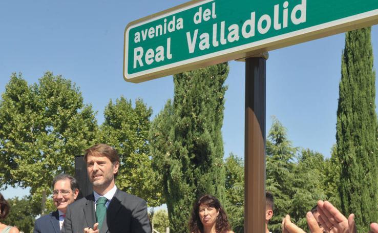 Acto inaugural de la avenida del Real Valladolid