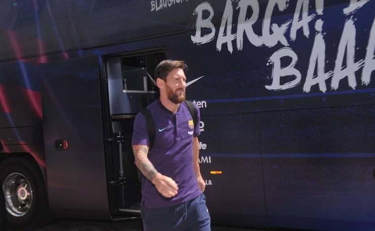 Llegada del FC Barcelona a Valladolid