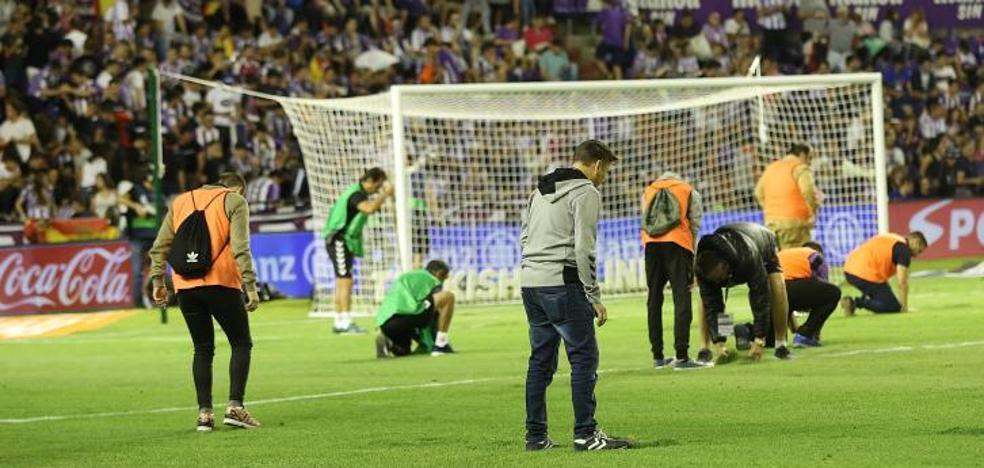 El Real Valladolid empieza a trabajar para arreglar el maltrecho césped